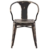 Helix Armchair - Steel, Antique Black Gold - ZM-108147