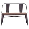 Elio Double Bench - Rustic - ZM-108149