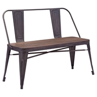 Elio Double Bench - Rustic