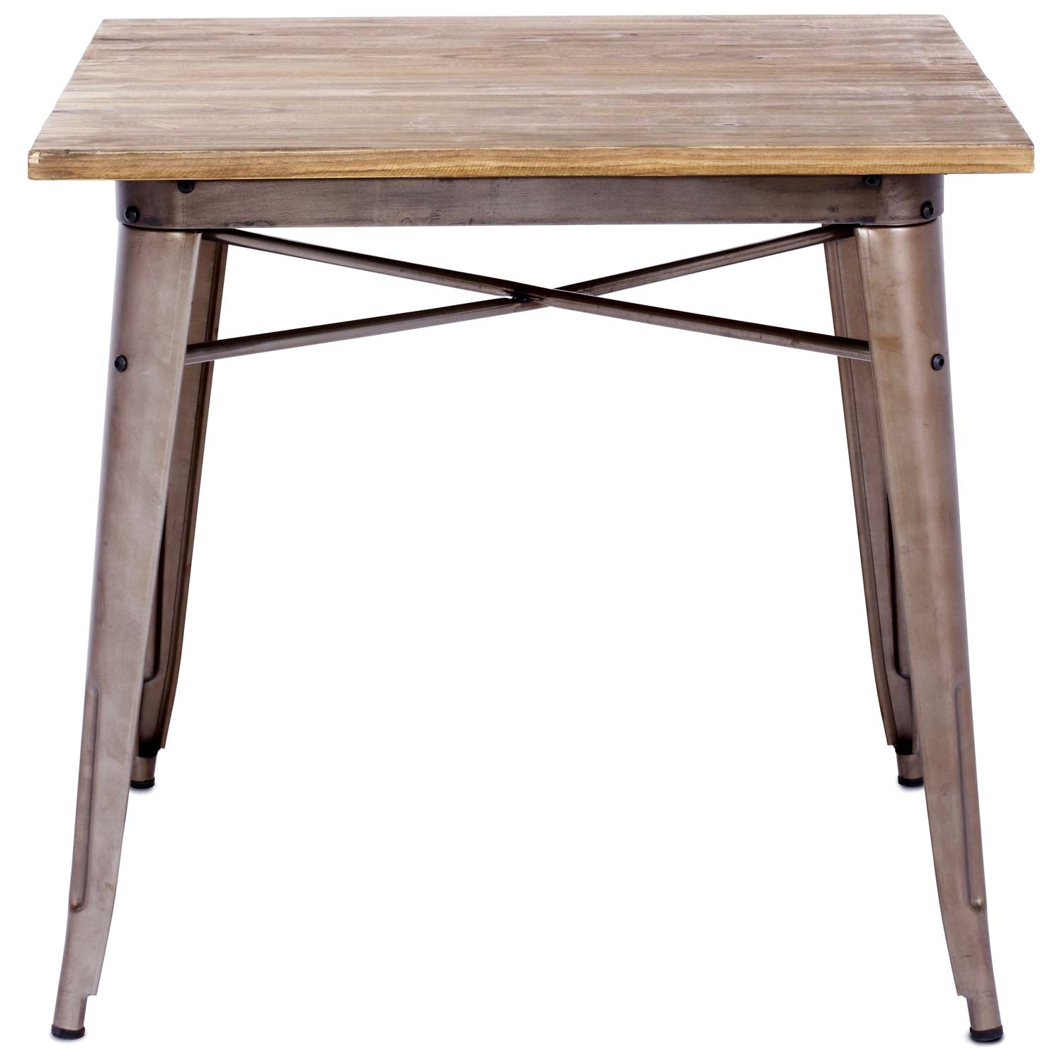 Titus Square Dining Table Steel Wood Top Faux Rust  : 109124 2 from www.dcgstores.com size 1500 x 1500 jpeg 109kB