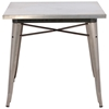 Olympia Square Dining Table - Steel, Gunmetal - ZM-109125