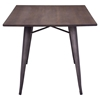 Titus Rectangular Dining Table - Rustic Wood - ZM-109127