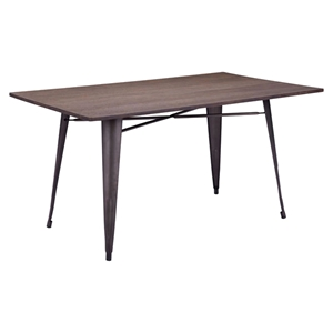 Titus Rectangular Dining Table - Rustic Wood