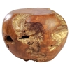 Fossil Stool - Natural and Antique Gold - ZM-155060