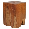 Prehistoric Stool - Natural and Antique Gold - ZM-155062