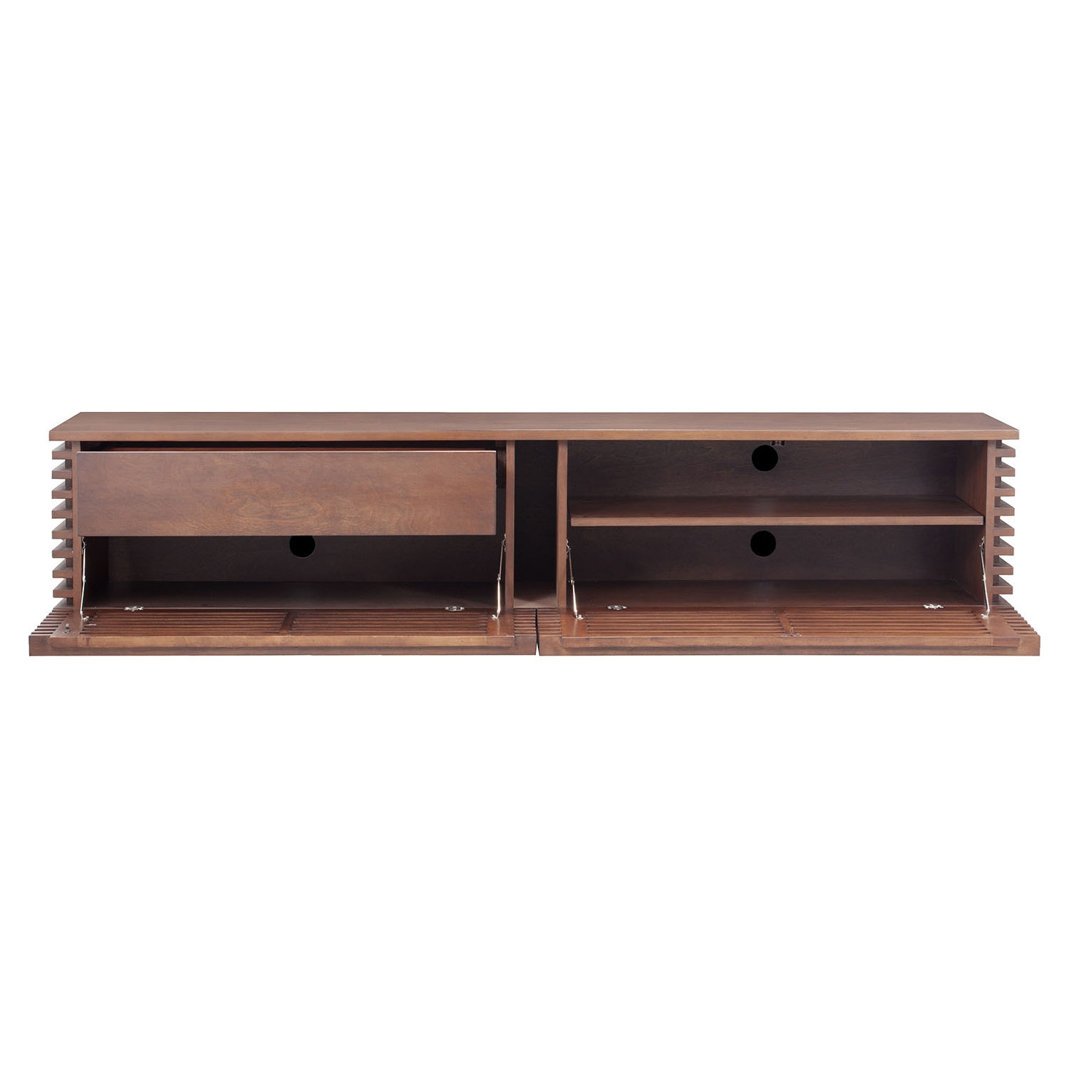 Linea Wide TV Stand - Walnut - ZM-199052