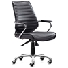 Enterprise Low Back Ribbed Office Chair - Chrome Steel, Black - ZM-205164