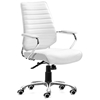 Enterprise Low Back Ribbed Office Chair - Chrome Steel, White - ZM-205165