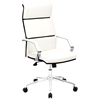 Lider Pro Office Chair - Chrome Steel, White - ZM-205311