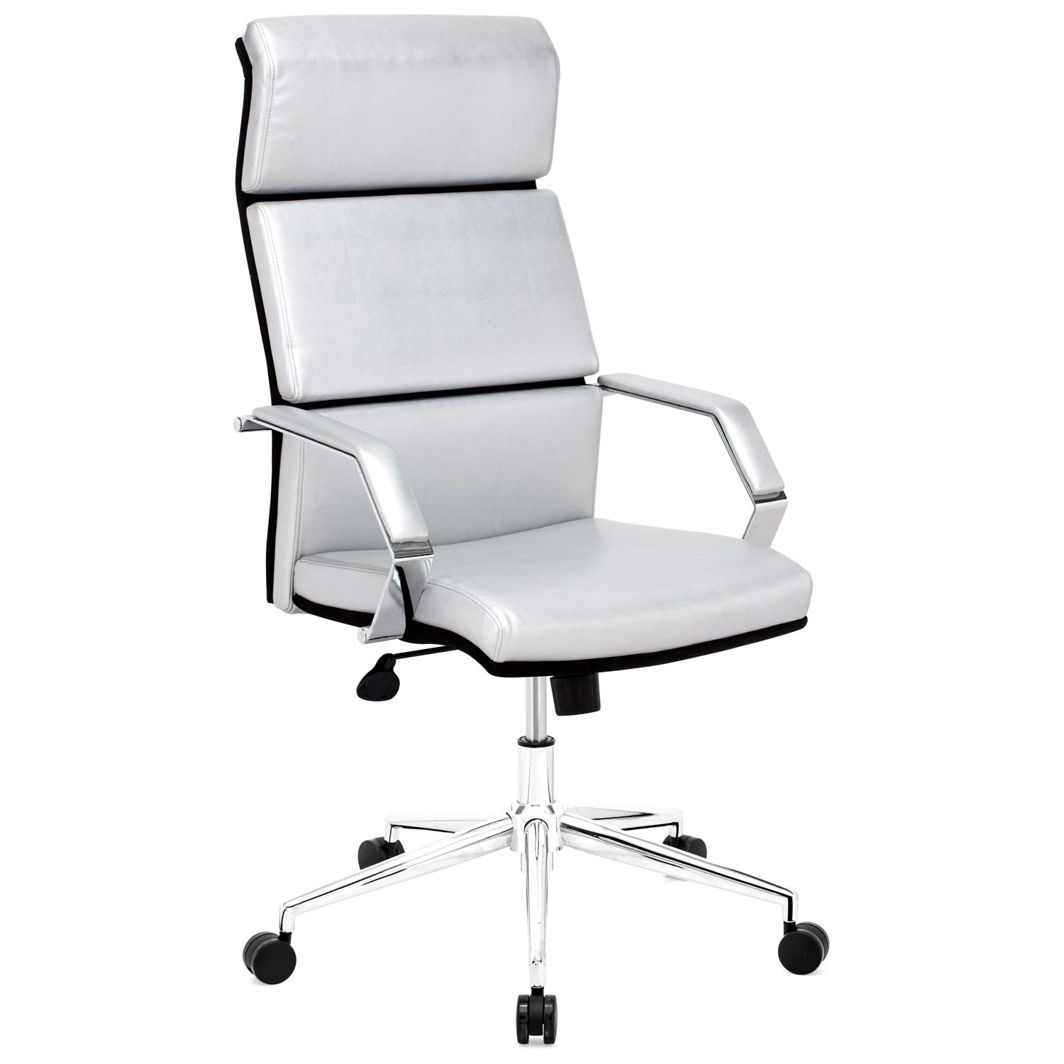 Lider Pro Office Chair - Chrome Steel, Silver - ZM-205312