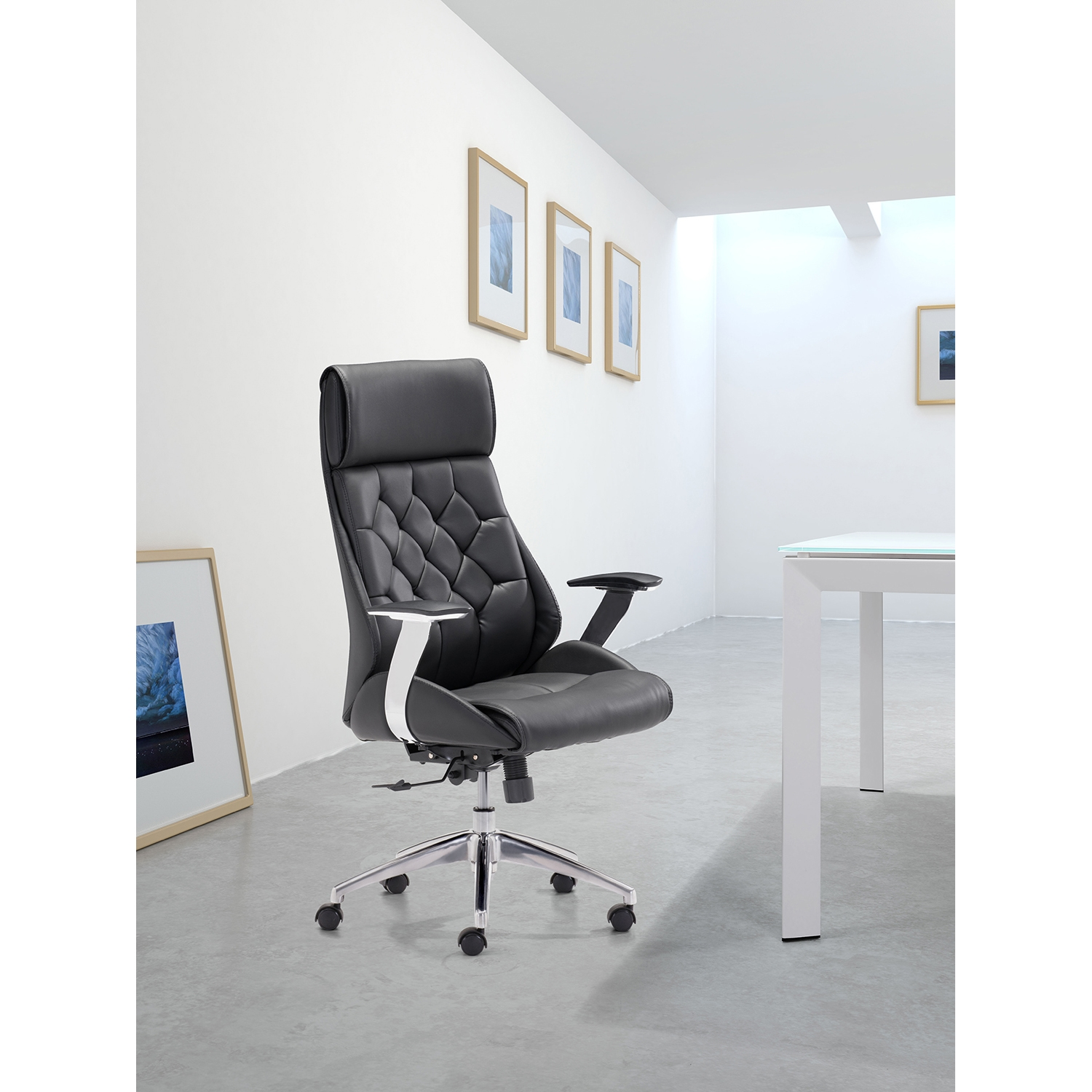 Boutique Office Chair - Adjustable, Casters, Black - ZM-205890