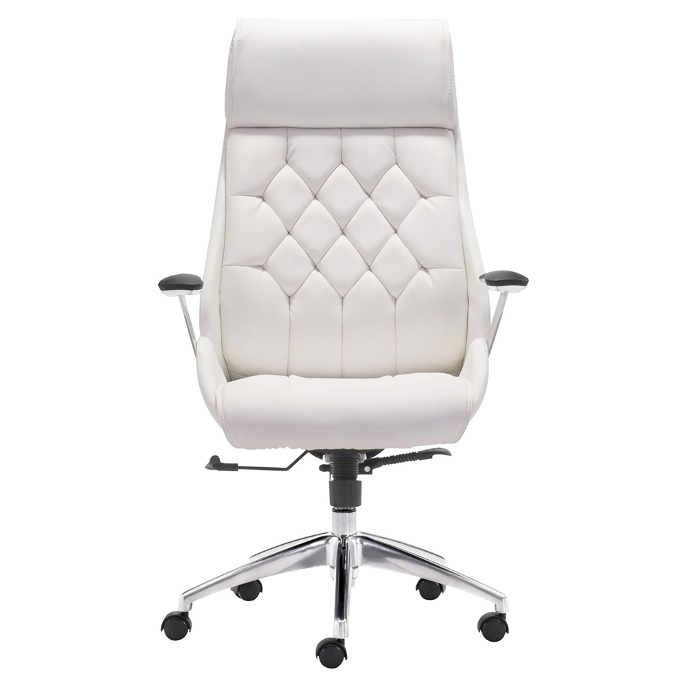 boutique office chair adjustable casters white dcg. Black Bedroom Furniture Sets. Home Design Ideas
