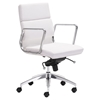 Engineer Low Back Office Chair - Casters, White - ZM-205896