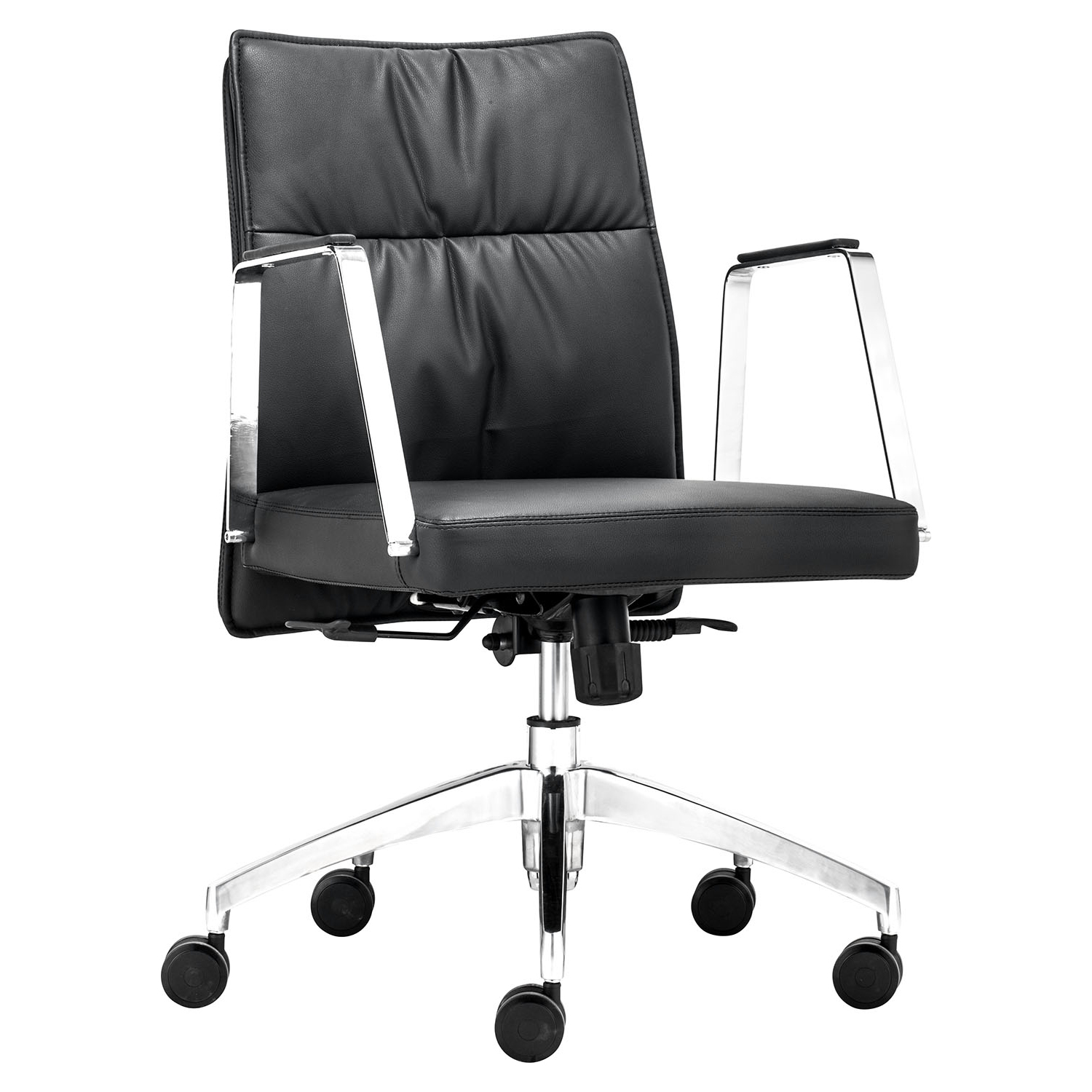 Dean Low Back Office Chair - Casters, Black - ZM-206136