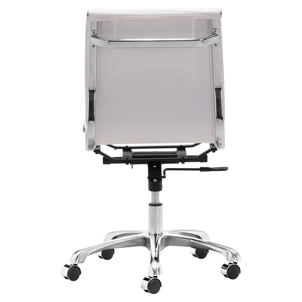 Lider Plus Armless Office Chair White DCG Stores