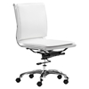 Lider Plus Armless Office Chair - White - ZM-215219