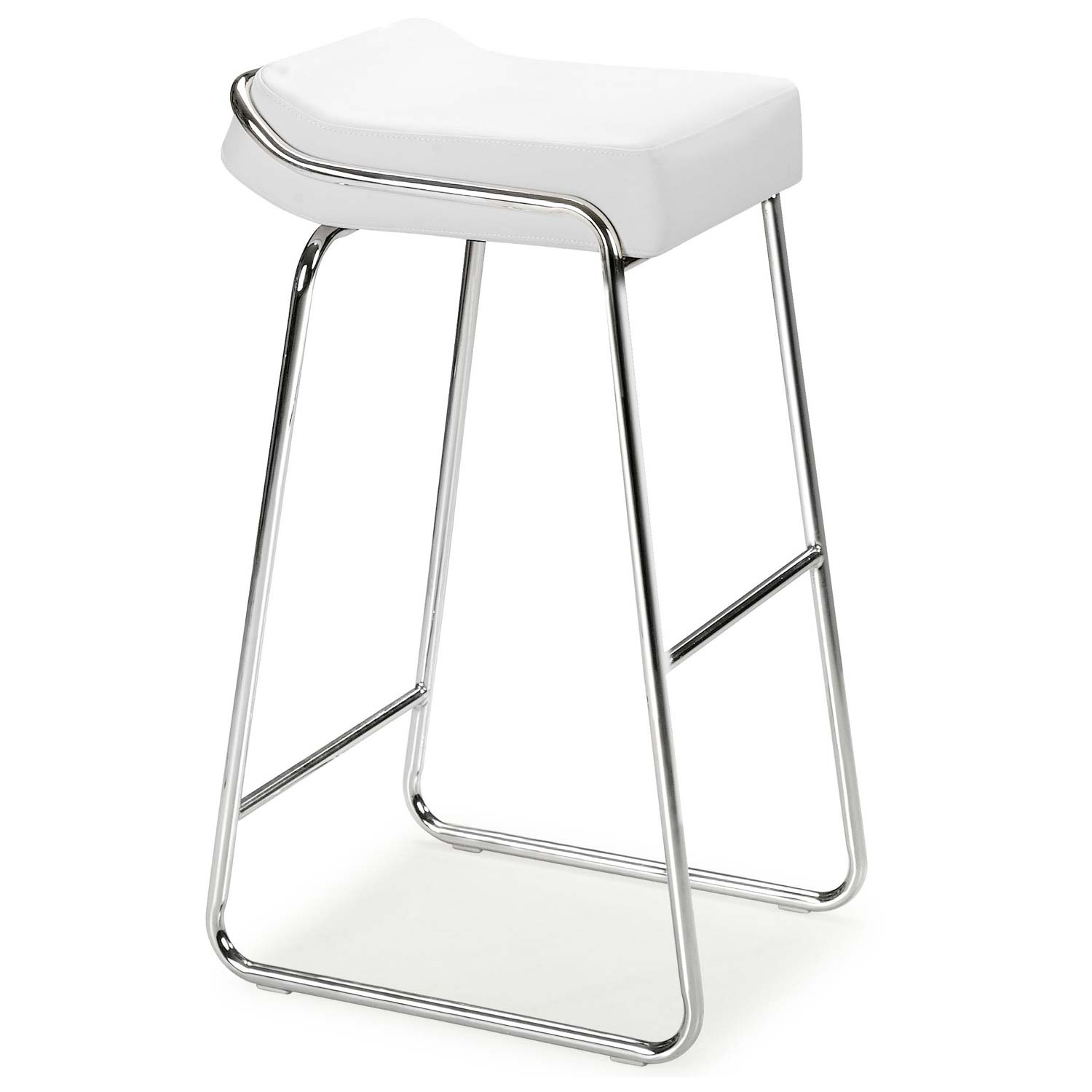 "Piano 32"" Backless Bar Stool - Chrome, Leatherette - ZM-30004X-PIANSTL"