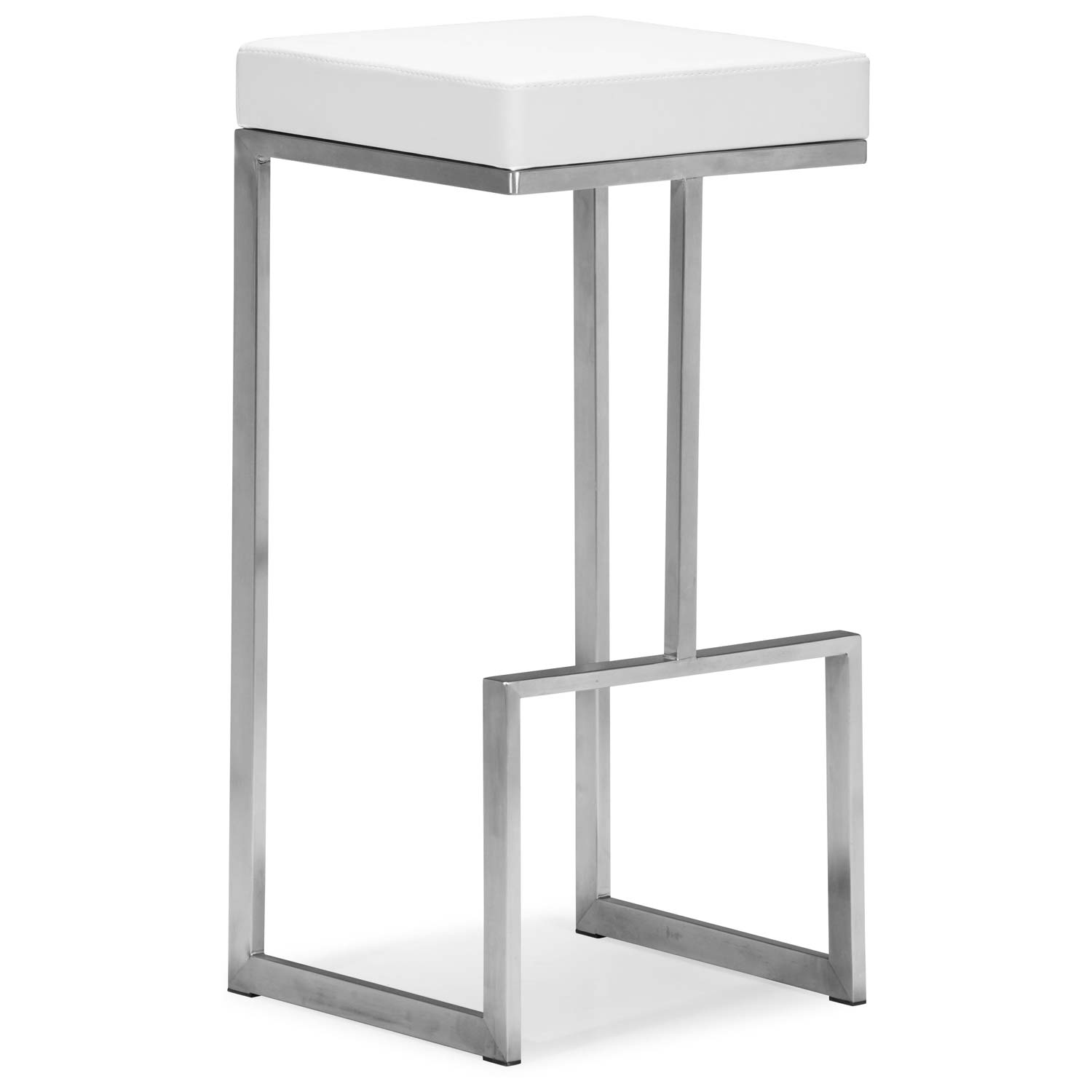 Darwen 30 Quot Backless Bar Stool Stainless Steel White
