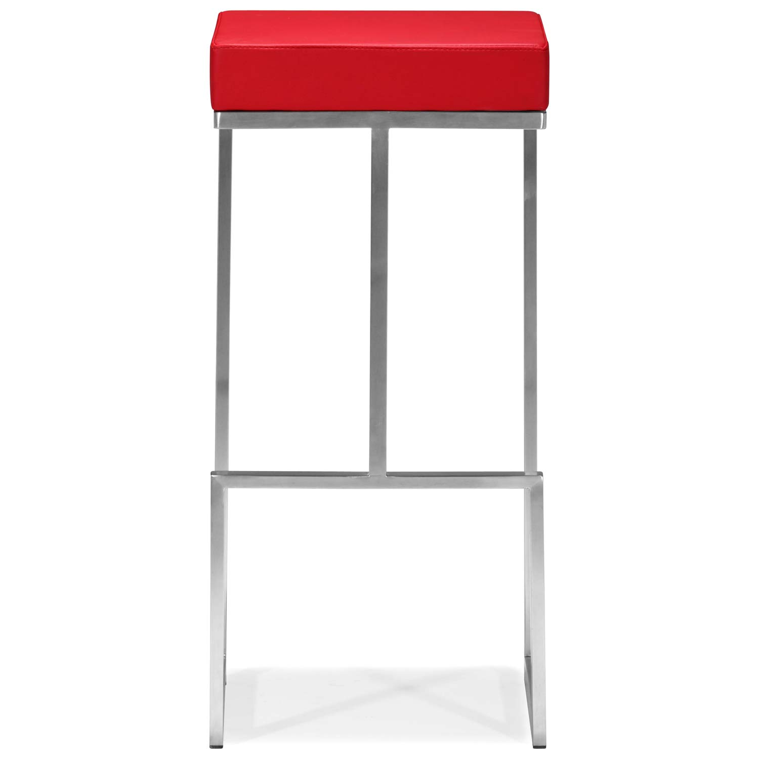 Darwen 30 Quot Backless Bar Stool Stainless Steel Red Dcg