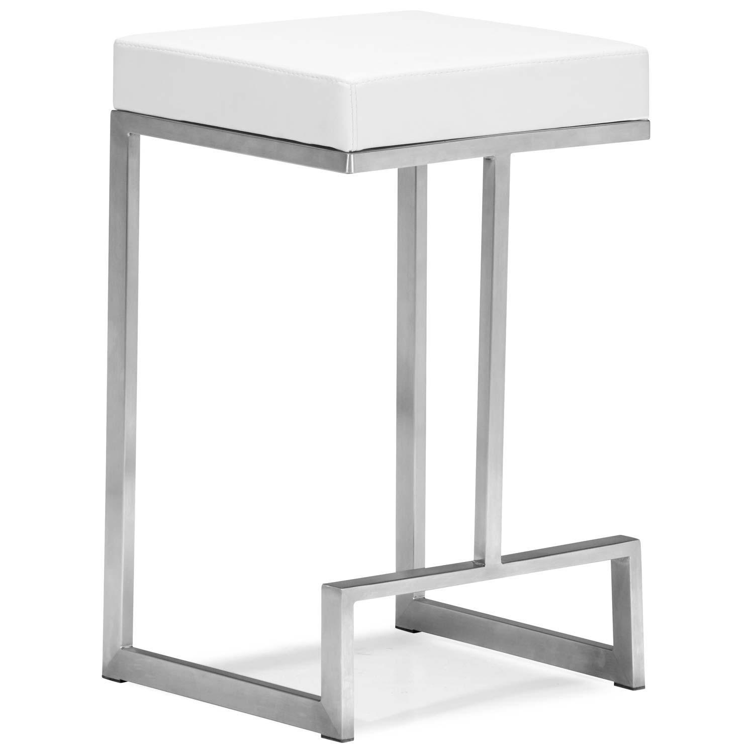 Darwen 24 Quot Backless Counter Stool Steel Base White