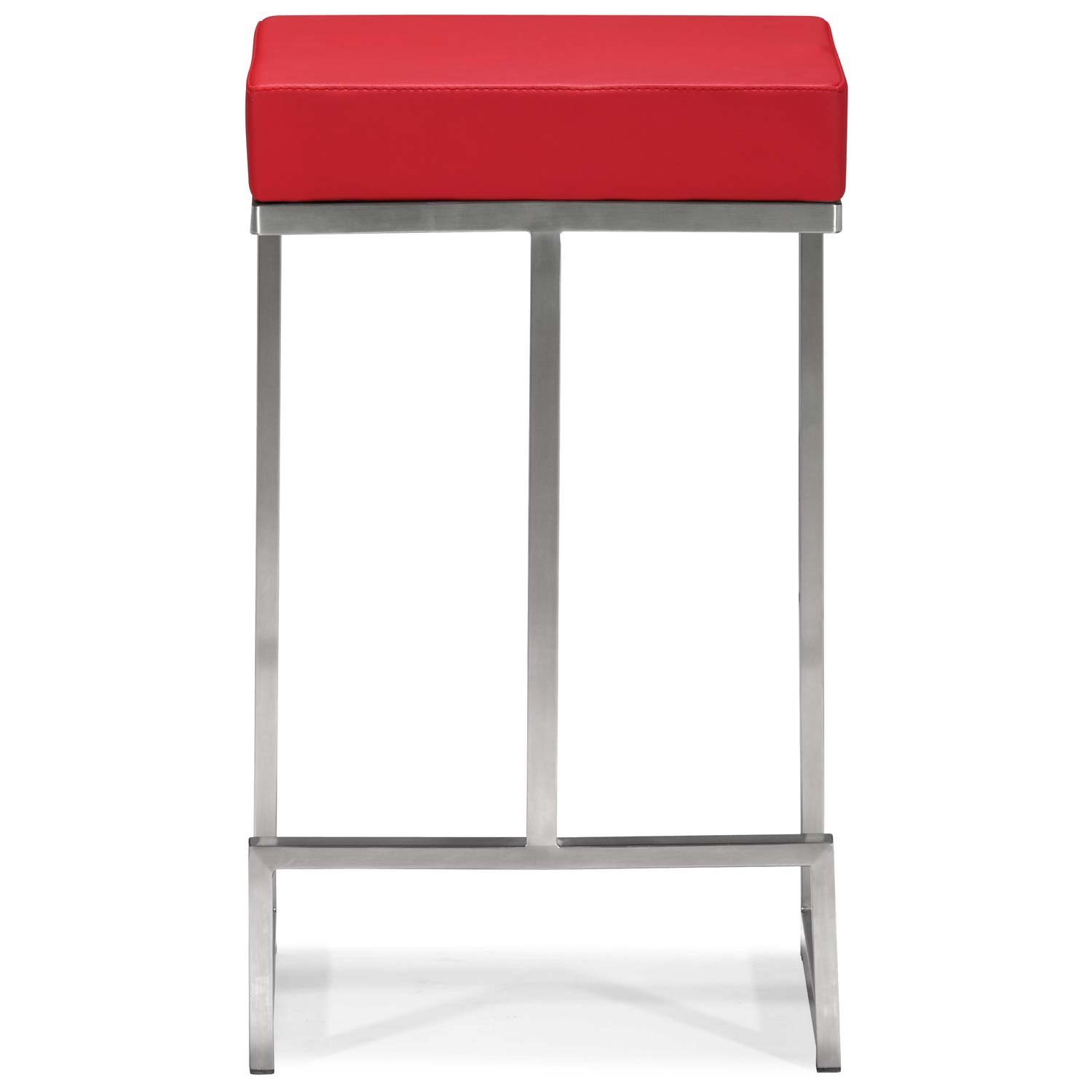 Darwen 24 Quot Backless Counter Stool Steel Base Red Dcg