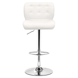 Formula White Bar Chair - Swivel, Adjustable