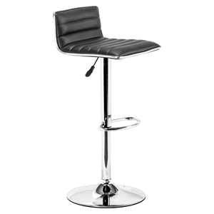 Equation Black Bar Chair - Swivel, Adjustable