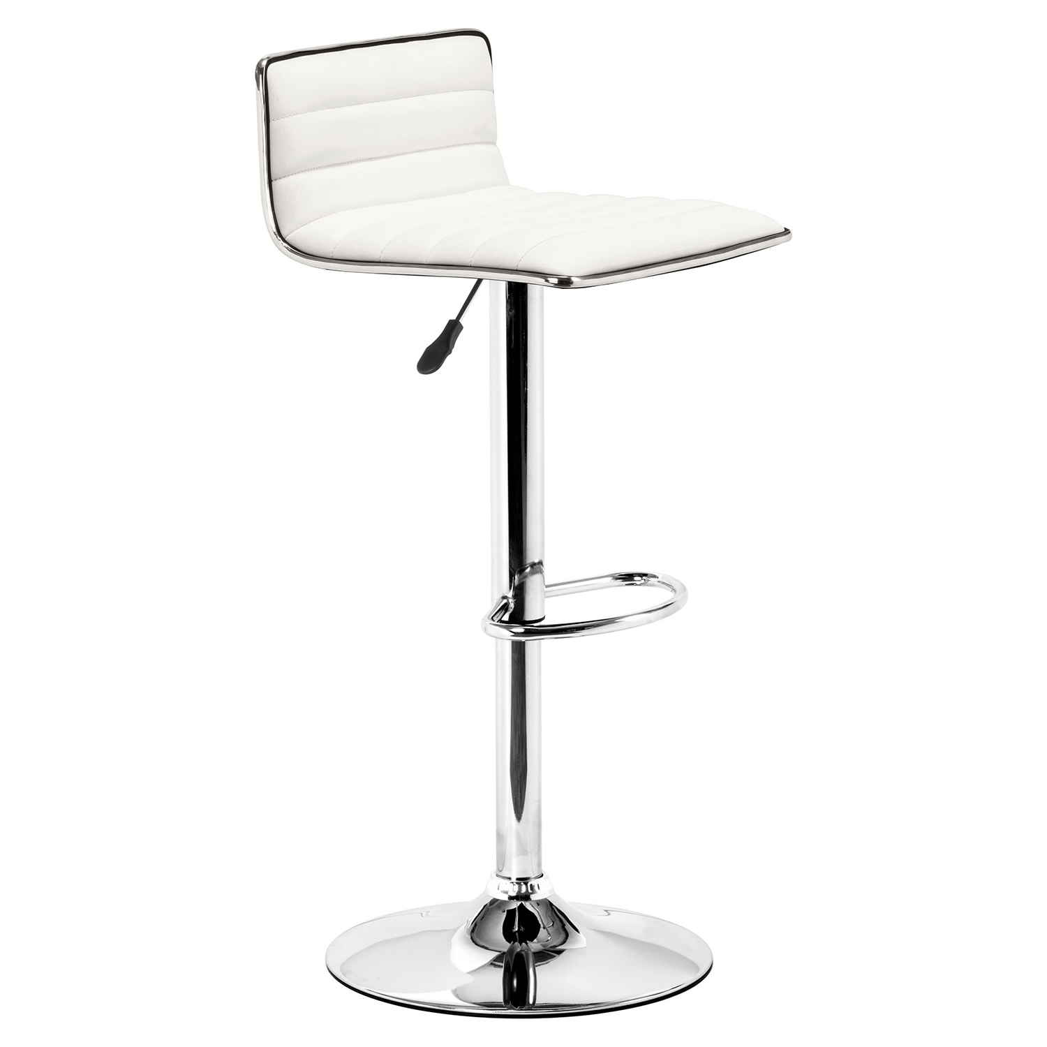 Equation White Bar Chair - Swivel, Adjustable - ZM-300219