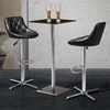 Devilin Diamond Tufted Bar Stool - Chrome Steel, Black - ZM-301365