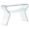 Yoga Console Table - Clear and Frosted - ZM-404145