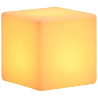 Cube Lumen Plastic Stool - Multicolored LED