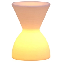 Spring Lumen Plastic Stool - Multicolored LED