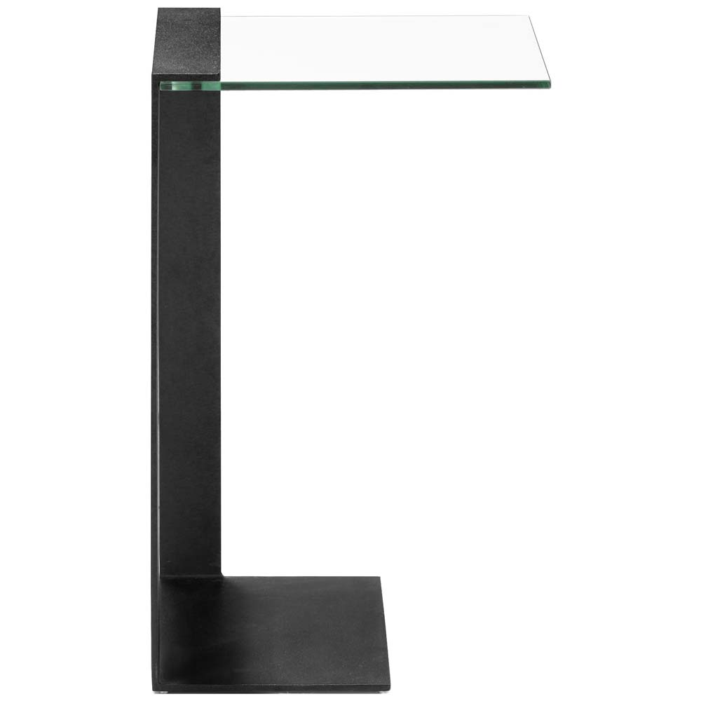 ... Zeon C Side Table   Tempered Glass, Black   ZM 404194 ...