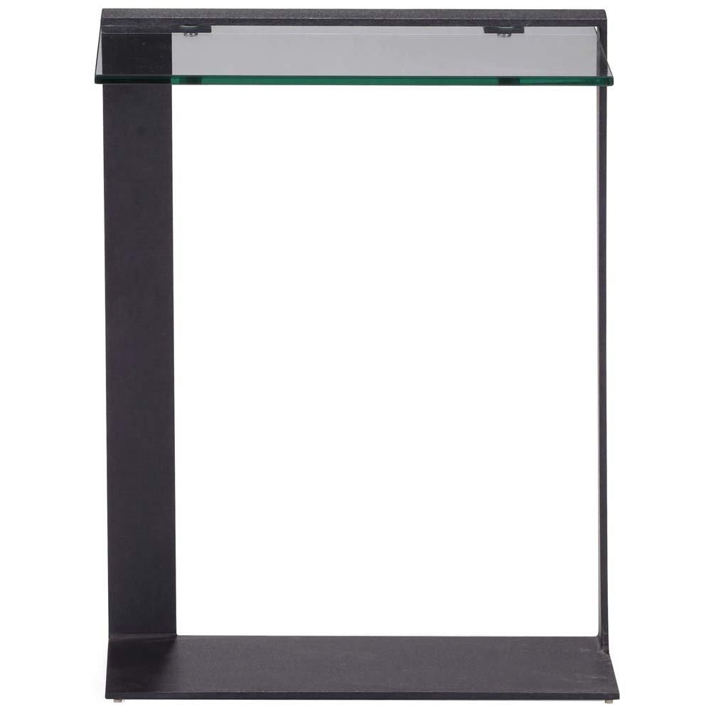 Zeon C Side Table - Tempered Glass, Black - ZM-404194