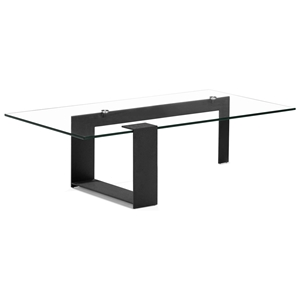 Zeon Coffee Table - Tempered Glass, Black