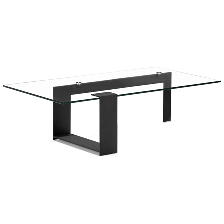 Zeon Coffee Table Tempered Glass Black Dcg Stores