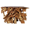 Dino Console Table - Natural and Antique Gold - ZM-404231