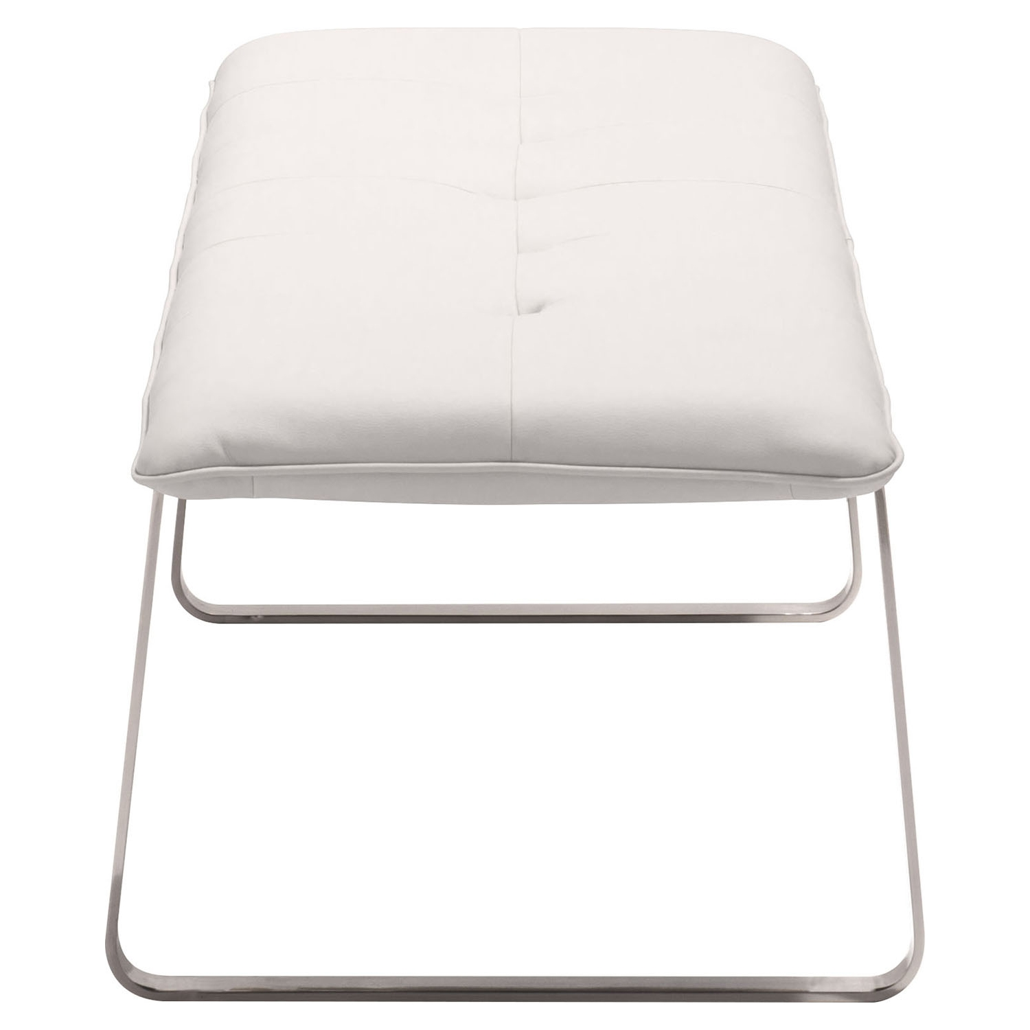 Cartierville Bench - Tufted, White - ZM-500178