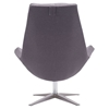 Bruges Occasional Chair - Charcoal Gray - ZM-500510