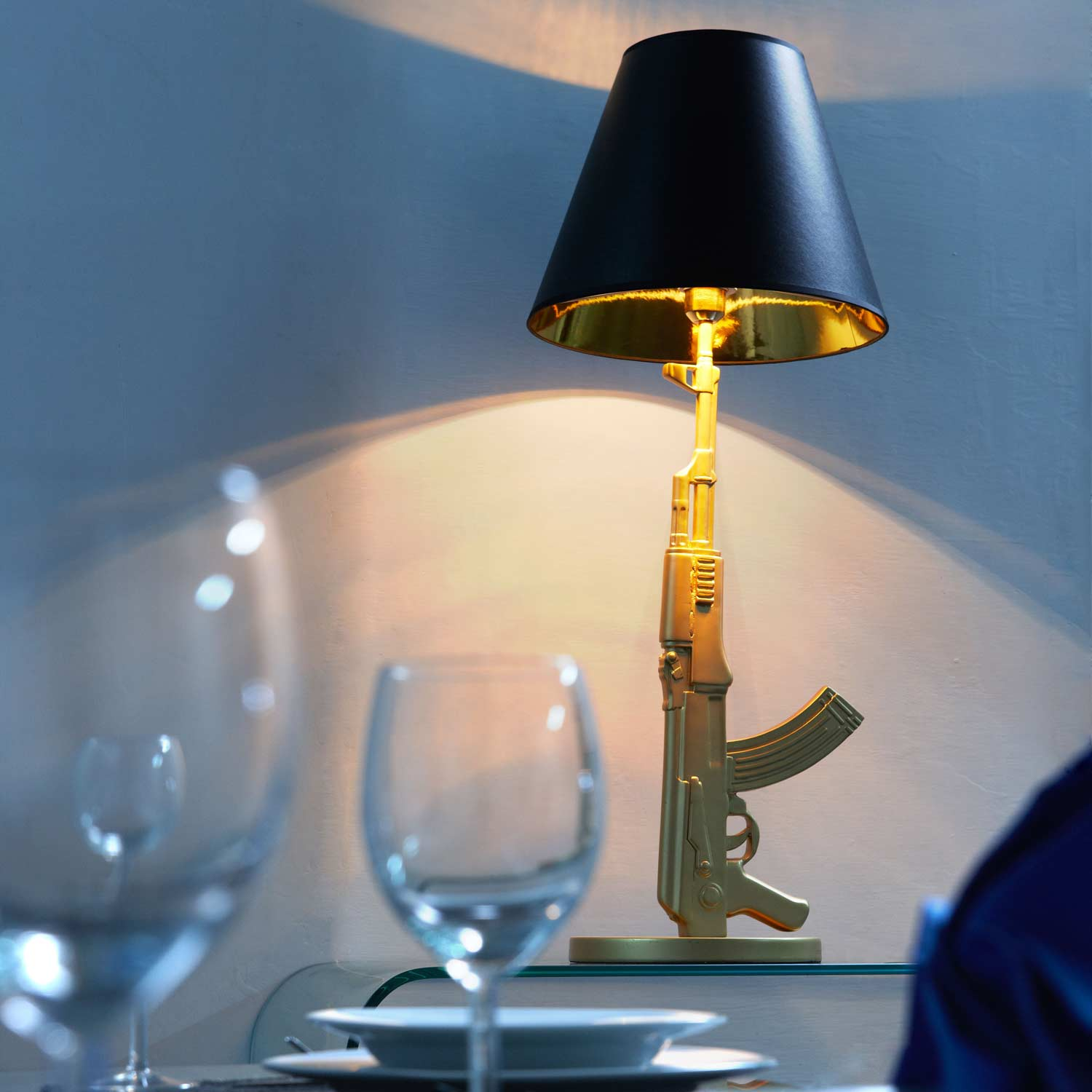Artemis Table Lamp - Shotgun Style Base, Gold - ZM-50071
