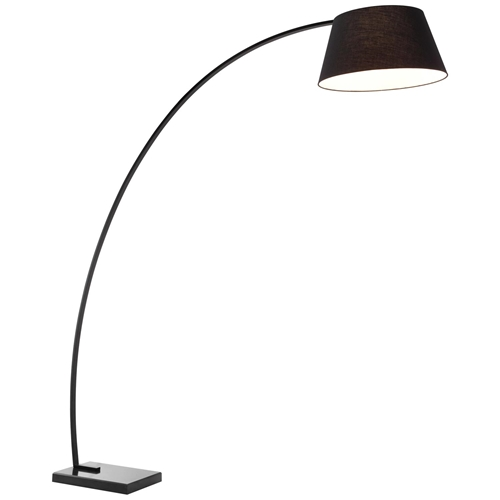 Vortex Floor Lamp Rectangular Marble Base Black Dcg