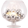 Terran Table Lamp - Clear Glass, Chrome Orbs - ZM-50079