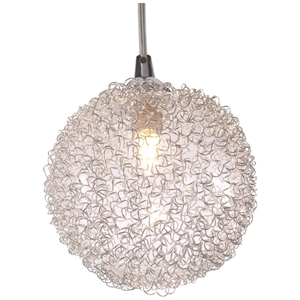 Cassius Ceiling Lamp - Aluminum Wires, Glass Globe
