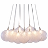 Cosmos Ceiling Lamp - Textured Glass Orbs, Chrome - ZM-50100