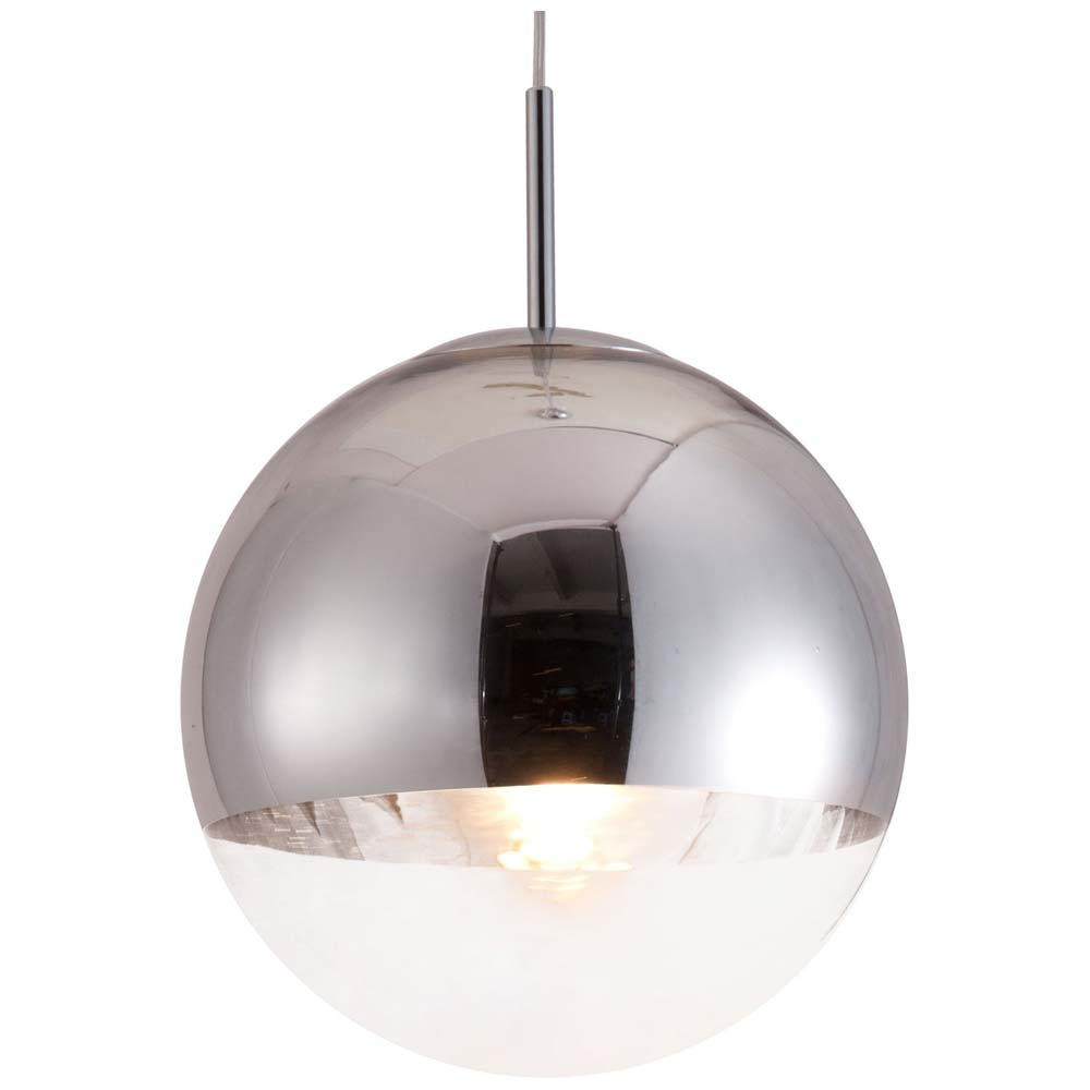 Kinetic Spherical Ceiling Lamp - Clear Glass, Chrome - ZM-50104