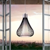 Interstellar Ceiling Lamp - Frosted Glass, Black Metal Wire - ZM-50105