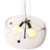Asteroids Ceiling Lamp - Clear Glass, Chrome Metal - ZM-50106