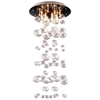 Inertia Ceiling Lamp - Clear Glass Orbs, Stainless Steel - ZM-50115