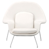Nursery Chair and Ottoman - White - ZM-501154