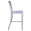 Gastro Brushed Aluminum Counter Chair - ZM-701198